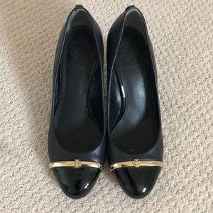 Tory Burch lightly worn stacked heels